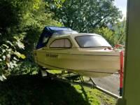 Fishing boat 17 foot 4 stroke 25hp