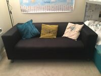 Black Ikea Sofa with removable cover