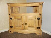 Corona Panama TV Cabinet Media DVD Unit Solid Pine Wood Mexican Rustic Furniture