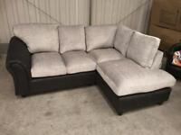 Brand new silver grey corner sofa