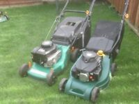 PETROL MOWERS WITH GRASS BOXS £30 EACH