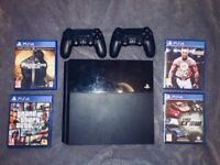 Playstation 4 500g with 4 games & 2 original pads
