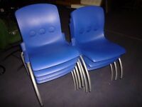 Job Lot of 12 Junior Plastic Stacking Chairs