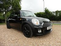 Mini Hatch One 1.6 Avenue. 1 Lady Owner. (gorgeous black coachwork) 2012