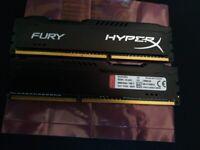 16 gb Hyper Fury X DDR3 1600 Mhz