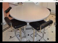 4 Pieff Eleganza bar stools,chrome and black leather