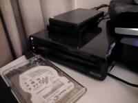 Wii U 32gb black, 120gb SD card + 500gb External Hard drive