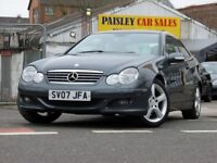 2007 REG MERCEDES C 220 DCi SE 2.1cc 3 Door AUTO COUPE.