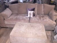 SCS Portland 3 seater, 4 seater & footstool