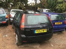 2002 FORD FIESTA ZETEC 16V (MANUAL PETROL) FOR PARTS ONLY
