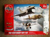 AIRFIX RAF CENTENARY GIFT SET 1:72 PLASTIC FIGHTER AIRCRAFT KITS X3 CAN POST