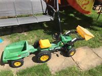 Pedal tractor and trailer