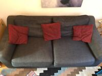 DFS Dark Grey Sofa - £20
