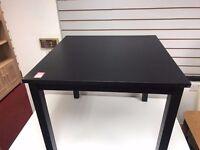 Square Black table