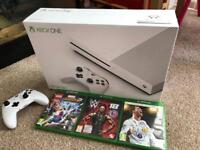 Xbox One S 500gb with 3 games