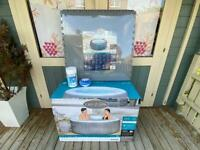 * BRAND NEW * Lay-Z-Spa Saint Lucia Airjet 3 person Hot tub inc Floor Protecter & Cleaning Kit!