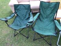 Garden camping chairs