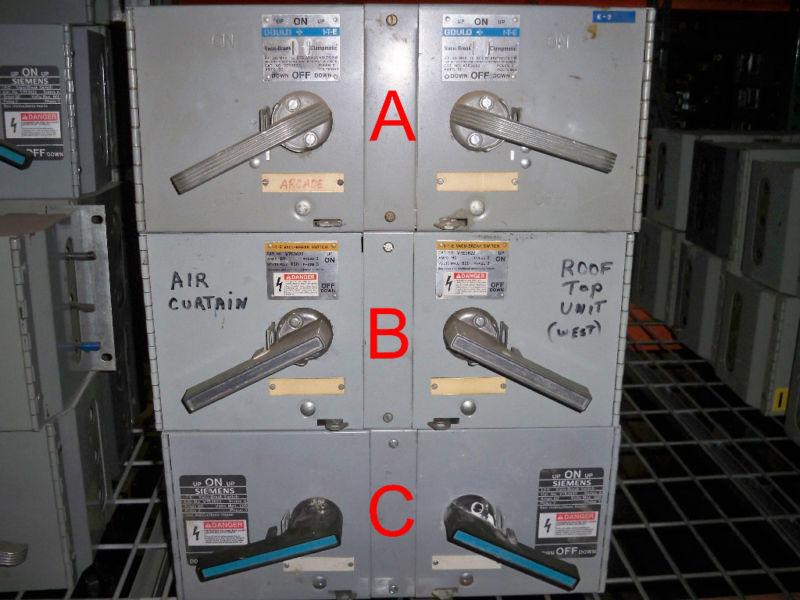 Ite / Siemens V7e3622 60a Twin 600v Panelboard Switch