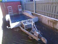 12X5 Hudson Plant trailer, twin axle, 3.5 ton, new floor, rear loading ramps, galvanised