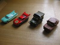 Four collectable small diecast Disney/Pixar cars.