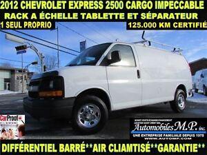 2012 Chevrolet Express 2500 CARGO RACK A ÉCHELLE 1 SEUL PROPRIO