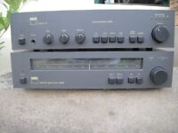 NAD 3020 amplifier and 4020A tuner
