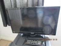 BUSH TV / TELEVISION / BUILT IN FREE VIEW (ALMOST NEW)