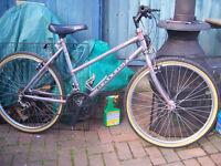 Ladies Raleigh Monsoon bicycle.