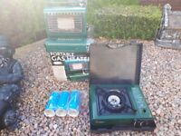 Camping stove plus camping heater