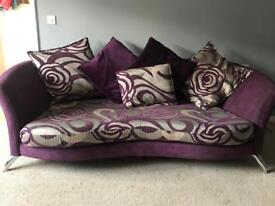 Sofa, cuddle chair, chair and footstool