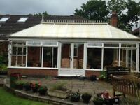 Used wooden conservatory 7m x 2.4m
