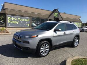 2016 Jeep Cherokee Limited / LEATHER / NAVI / SUNROOF