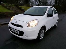 2012 WHITE NISSAN MICRA 5DR ONLY 40K MILES, SHOWROOM CONDITION,HPI CLEAR & FSH
