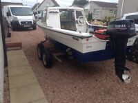 SWAP/PX/SELL 14ft dejon fishing boat with a 20hp Yamaha Outboard