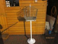 Bird cage and stand for sale.