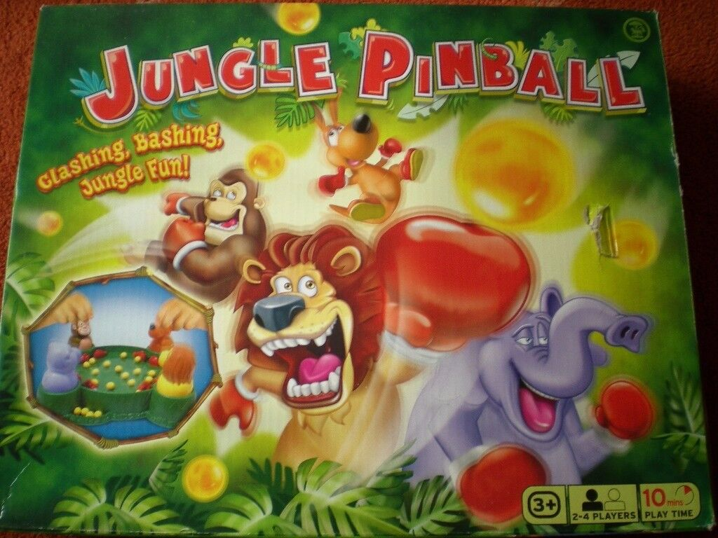 Jungle Pinball Game (hungry hippos) in excellent condition