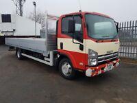 2013-62 plate isuzu npr75 7.5 tonne 20ft alloy dropside auto gearbox low klms...
