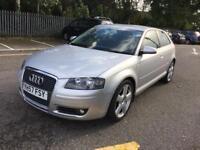 2008 Audi A3 S Line 6 Speed Diesel IMMACULATE MOT. TAX. WARRANTY. NEW FACELIFT SHAPE