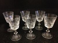 Edinburgh crystal star of Edinburgh 6 x wine glasses