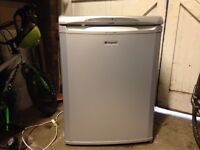 Silver/Grey Hotpoint under counter fridge