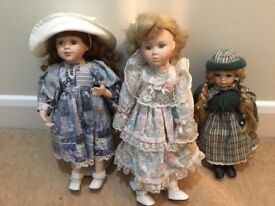 Three DOLLS collectables