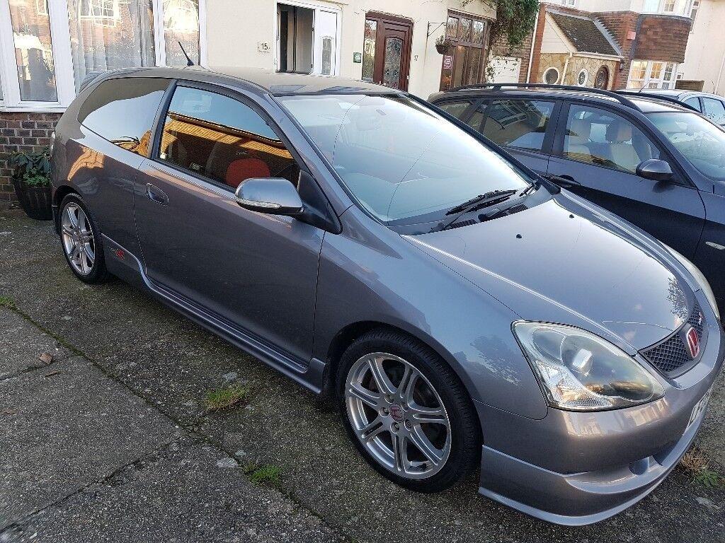 200722ff21 2005 Honda Civic Type R - grey - low mileage - aircon - new MOT. Worthing  ...