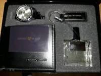 Mens armani aftershave watch wallet keyring gift set