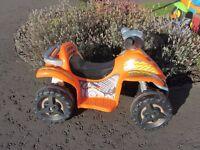 Battery Powered Orange Quad Bike