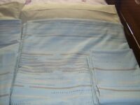 SUE BARKER DOUBLE DUVET SET - DUCK EGG BLUE AND CREAM - NEW AND UNUSED