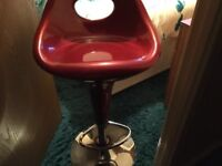 Red kitchen stools