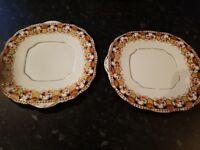 Vintage plates x 2