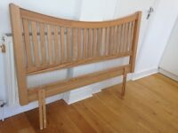 Excellent condition king size Solid Oak Headboard. Cash/collect only.