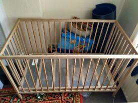 Cot Bed Wooden Lightweight Frame