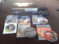 playstation 3 40gb plus games, pad and wireless ps3 headset
